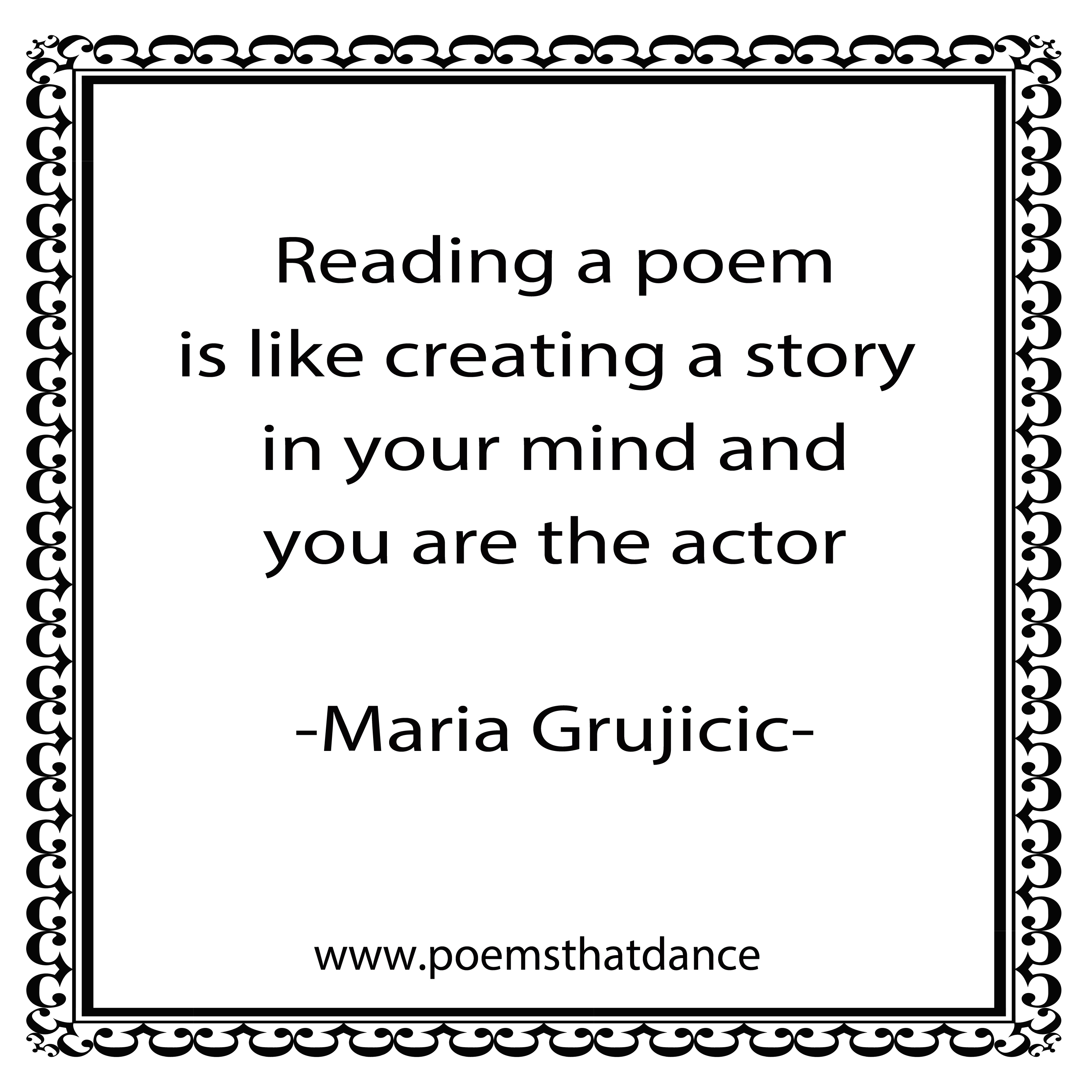 Poetry And Acting